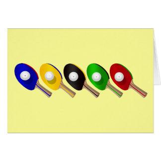 Cartão Bastão do ténis de mesa e esportes da bola de Pong
