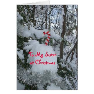 Cartão Bastão dos Natal-Doces da irmã