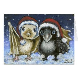 Cartão Bastão e corvo