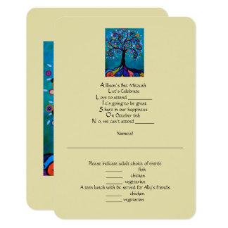 Cartão Bastão Mitzvah de RSVP
