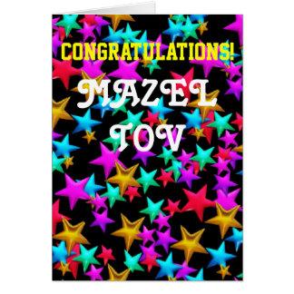 Cartão Bastão Mitzvah do bar dos parabéns