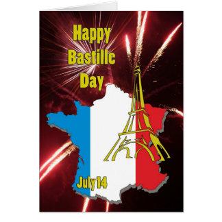 Cartão Bastille dia o 14 de julho