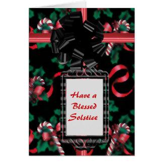 Cartão Bastões de doces da aguarela