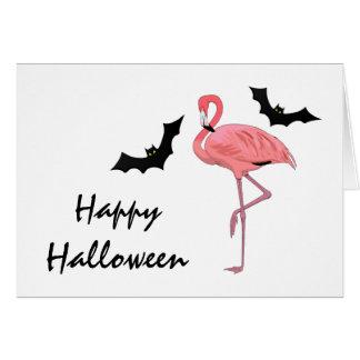 Cartão Bastões do Dia das Bruxas do flamingo