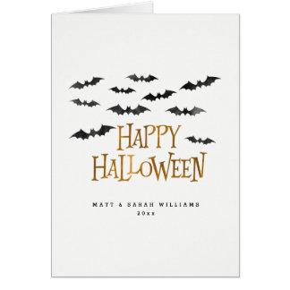 Cartão Bastões felizes da aguarela do Dia das Bruxas