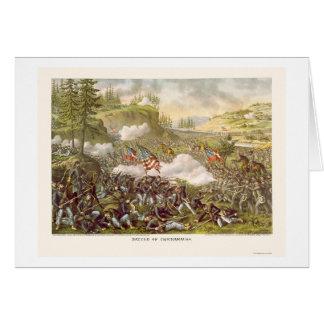 Cartão Batalha de Chickamauga por Kurz e por Allison 1863
