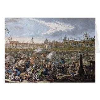 Cartão Batalha de Leipzig, o 19 de outubro de 1813