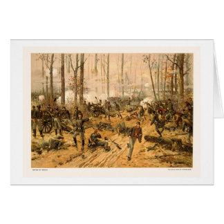 Cartão Batalha de Shiloh por Thure de Thulstrup 1888