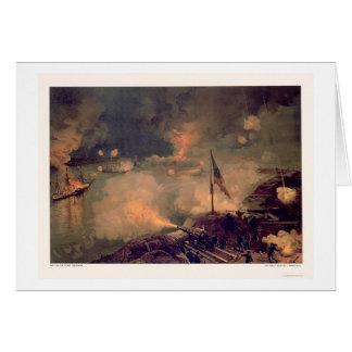 Cartão Batalha do porto Hudson por L. Prang & Empresa
