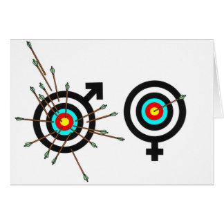 Cartão Batalha dos sexos