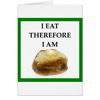 Cartão batata cozida