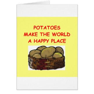 Cartão batatas da batata