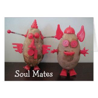 Cartão Batatas do espaço - almas gémeas