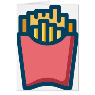 Cartão Batatas fritas