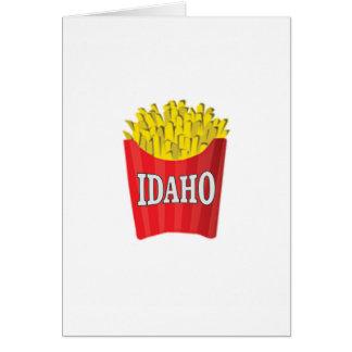 Cartão batatas fritas de idaho