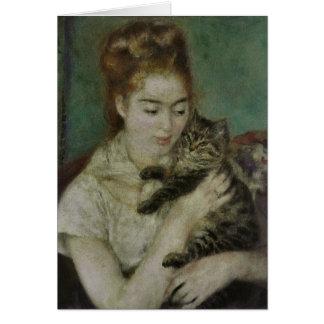 Cartão Bate-papo do au de Femme - Pierre Auguste Renoir