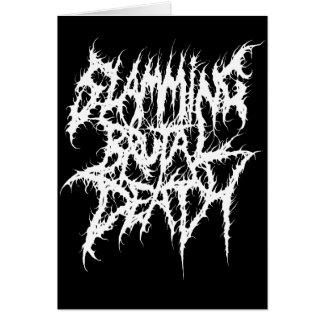Cartão Batendo o metal brutal da morte