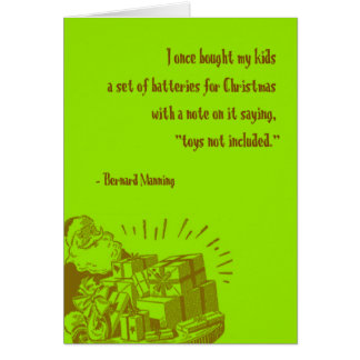 Cartão Baterias para o Natal
