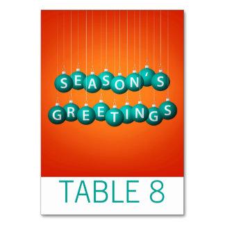 Cartão Bauble do Natal