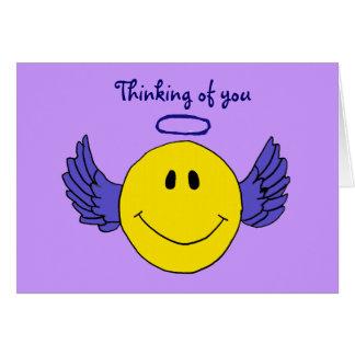 Cartão BC- o smiley face do anjo que pensa de você carda