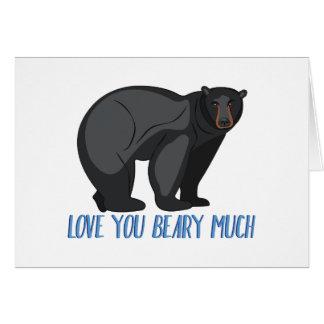 Cartão Beary muito