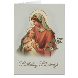 Cartão Bebê abençoado Jesus da mãe da Virgem Maria