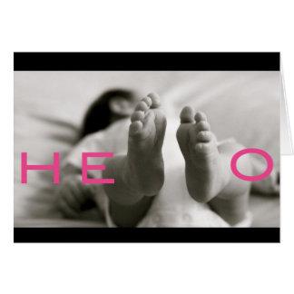 Cartão bebê bem-vindo!