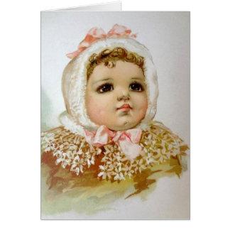 Cartão Bebê Brown-Eyed,
