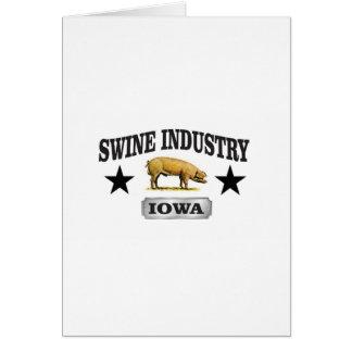 Cartão bebê da indústria dos suínos