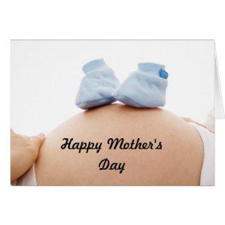 Cartão Bebé da mãe expectante do dia das mães