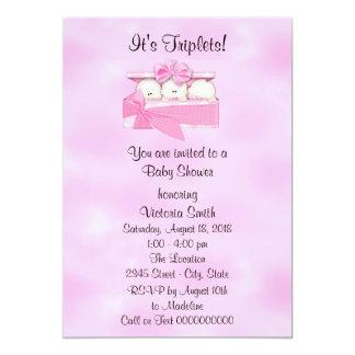 Cartão Bebé das objectivas triplas do chá de fraldas
