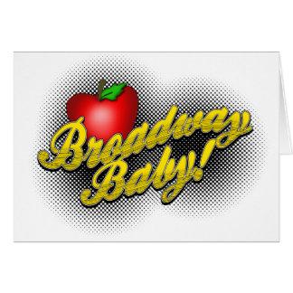 Cartão Bebê de Broadway!