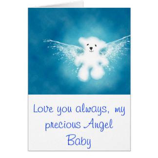 Cartão Bebê do anjo