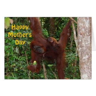 Cartão Bebê doce com dia das mães feliz da mãe