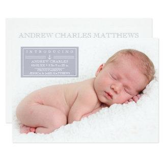 Cartão Bebé doce do marinheiro, anúncios do nascimento