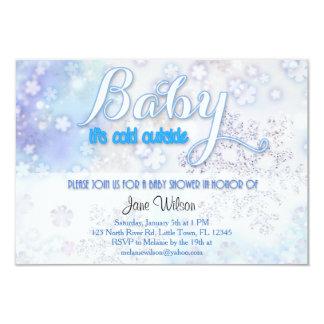 Cartão Bebê é chá de fraldas exterior frio