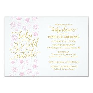 Cartão Bebê é chá de fraldas exterior frio do inverno