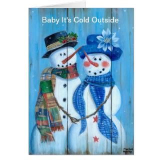 Cartão Bebê é parte externa fria