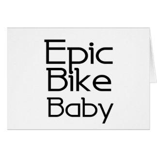 Cartão Bebê épico da bicicleta