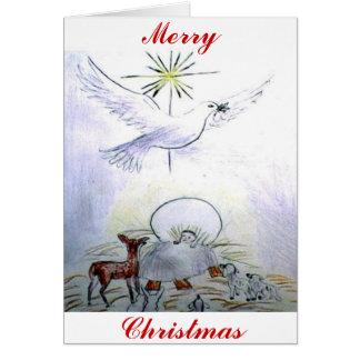 Cartão Bebê jesus da pomba