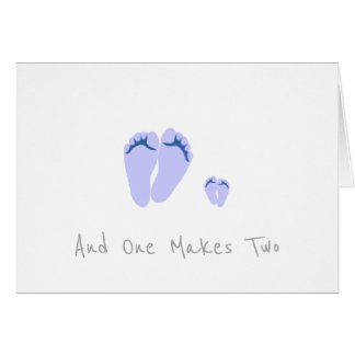 Cartão Bebé novo do único pai - e um faz dois