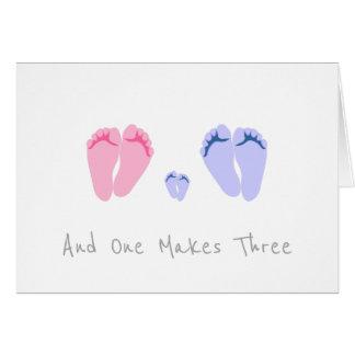 Cartão Bebé novo - e um faz três