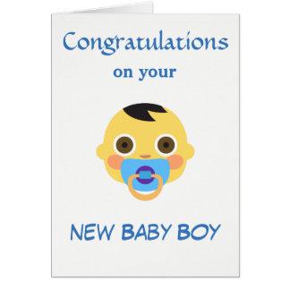 Cartão Bebê novo, Emoji.