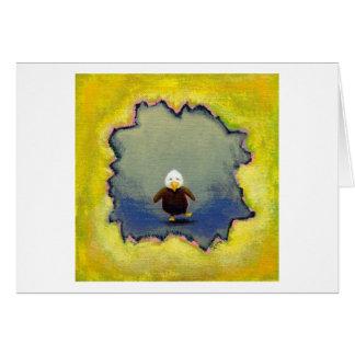 Cartão Bebê trémulo da arte da águia americana que