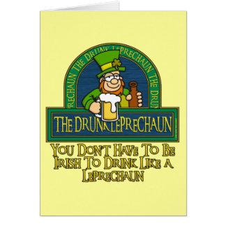 Cartão bêbedo do Leprechaun