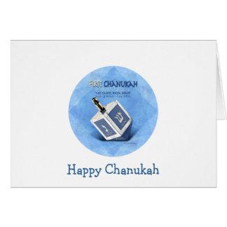 Cartão Bebês primeiro Chanukah Dreidel