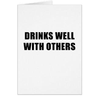 Cartão Bebidas bem com outro