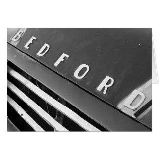Cartão Bedford B&W