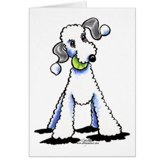 Cartão Bedlington Terrier deixou-nos jogar