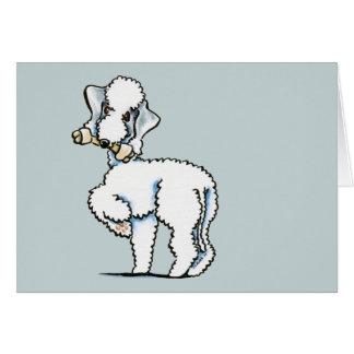 Cartão Bedlington Terrier Rosie